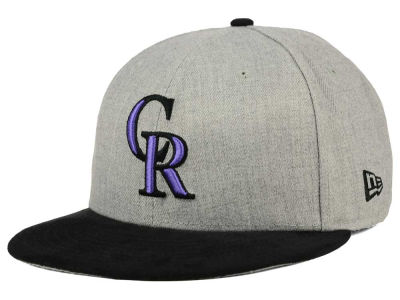 Colorado Rockies New Era MLB Heather On Suede 9FIFTY Snapback Cap