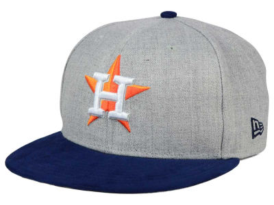 Houston Astros New Era MLB Heather On Suede 9FIFTY Snapback Cap