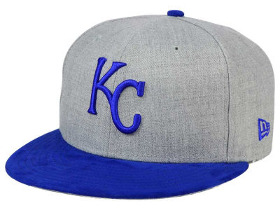 Kansas City Royals New Era MLB Heather On Suede 9FIFTY Snapback Cap