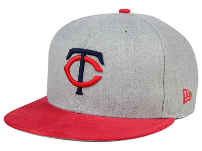 Minnesota Twins New Era MLB Heather On Suede 9FIFTY Snapback Cap