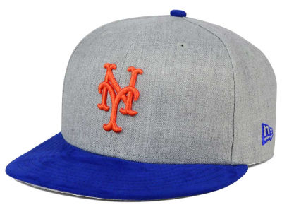 New York Mets New Era MLB Heather On Suede 9FIFTY Snapback Cap