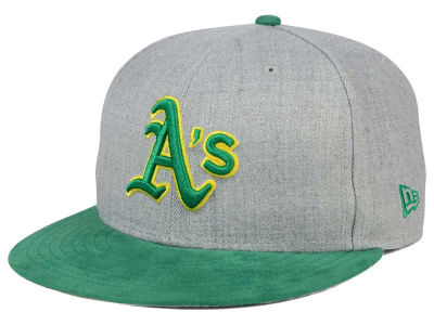 Oakland Athletics New Era MLB Heather On Suede 9FIFTY Snapback Cap