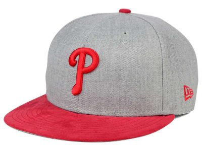 Philadelphia Phillies New Era MLB Heather On Suede 9FIFTY Snapback Cap
