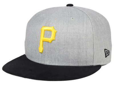 Pittsburgh Pirates New Era MLB Heather On Suede 9FIFTY Snapback Cap