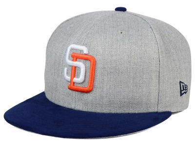 San Diego Padres New Era MLB Heather On Suede 9FIFTY Snapback Cap