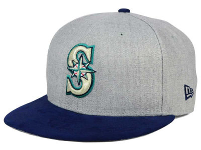 Seattle Mariners New Era MLB Heather On Suede 9FIFTY Snapback Cap