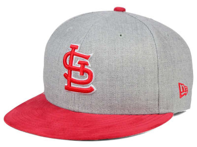 St. Louis Cardinals New Era MLB Heather On Suede 9FIFTY Snapback Cap