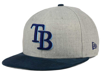 Tampa Bay Rays New Era MLB Heather On Suede 9FIFTY Snapback Cap