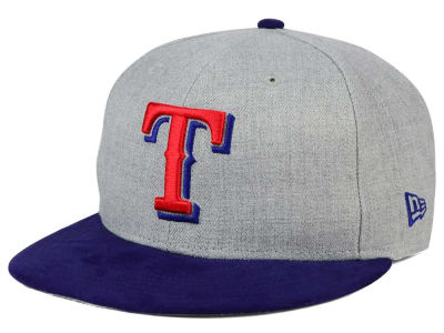 Texas Rangers New Era MLB Heather On Suede 9FIFTY Snapback Cap