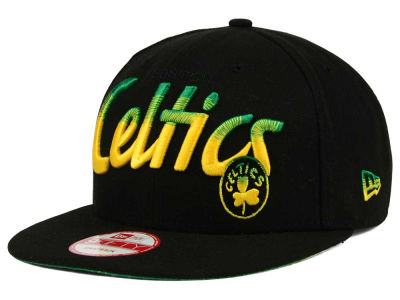 Boston Celtics New Era NBA HWC Fade to Script 9FIFTY Snapback Cap