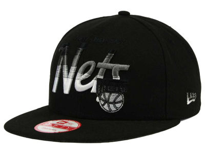 New Jersey Nets New Era NBA HWC Fade to Script 9FIFTY Snapback Cap