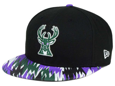 Milwaukee Bucks New Era NBA HWC Team Zag 9FIFTY Snapback Cap