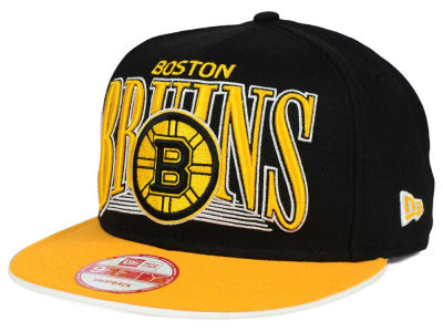 Boston Bruins New Era NHL Ice Block 9FIFTY Snapback Cap