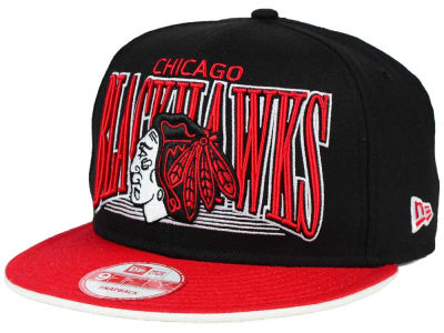 Chicago Blackhawks New Era NHL Ice Block 9FIFTY Snapback Cap