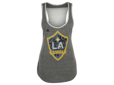 LA Galaxy adidas MLS Women's Peal Logo Tank Top