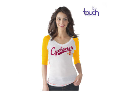 Iowa State Cyclones G-III Sports NCAA Women's Home Run 3/4 Sleeve Raglan T-Shirt