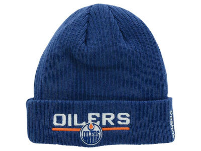 Edmonton Oilers Reebok NHL Youth Locker Room Cuffed Knit
