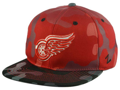 Detroit Red Wings Zephyr NHL Militia Snapback Cap