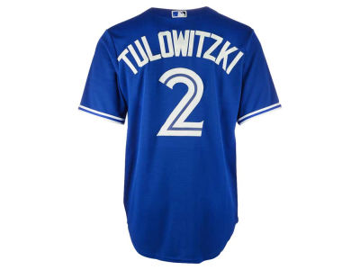 Toronto Blue Jays Troy Tulowitzki Majestic MLB Men's Player Replica CB Jersey