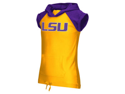 LSU Tigers NCAA Youth Girls Jewel Short Sleeve Hoodie