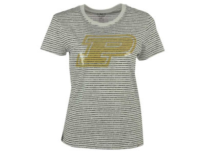 Purdue Boilermakers '47 NCAA Women's Sparkle Stripe T-Shirt