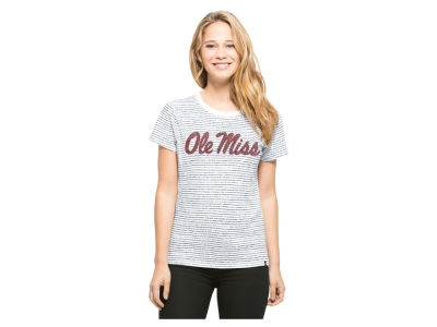 Ole Miss Rebels '47 NCAA Women's Sparkle Stripe T-Shirt
