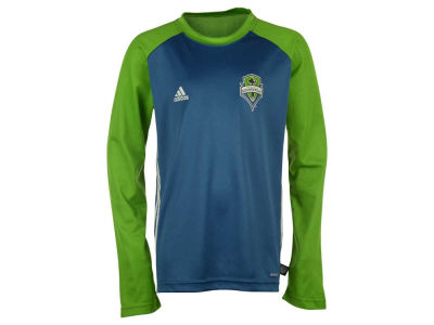 Seattle Sounders FC adidas MLS Youth Training Long Sleeve Shirt