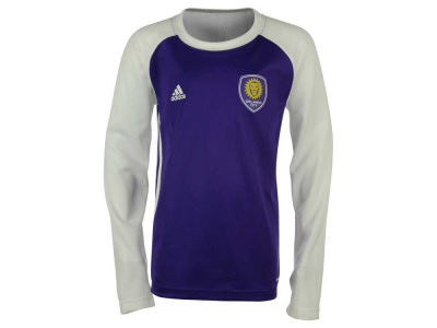 Orlando City SC adidas MLS Youth Training Long Sleeve Shirt
