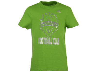 Seattle Sounders FC MLS Girls Liquid Silver Shine T-Shirt