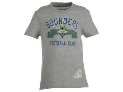 Seattle Sounders FC MLS Girls Middle Logo Scarf T-Shirt