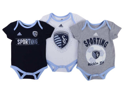 Sporting Kansas City MLS Newborn Hat Trick Creeper Set
