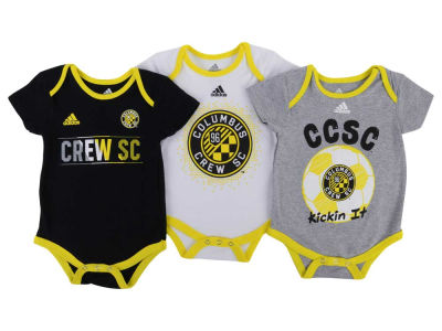 Columbus Crew SC MLS Infant Hat Trick Creeper Set