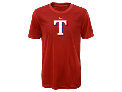 Texas Rangers Majestic MLB Youth Geo Strike CB T-Shirt