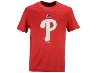 Philadelphia Phillies Majestic MLB Youth Geo Strike CB T-Shirt