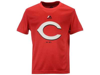 Cincinnati Reds Majestic MLB Youth Geo Strike CB T-Shirt