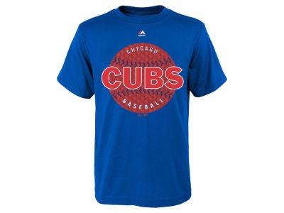 Chicago Cubs Majestic MLB Youth Electric Ball T-Shirt