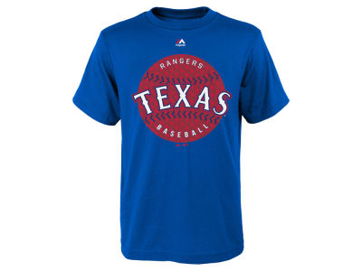 Texas Rangers Majestic MLB Youth Electric Ball T-Shirt
