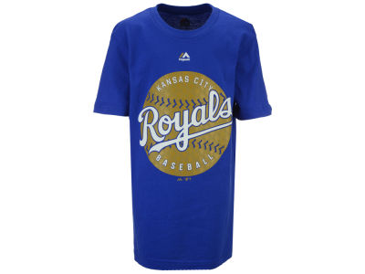Kansas City Royals Majestic MLB Youth Electric Ball T-Shirt