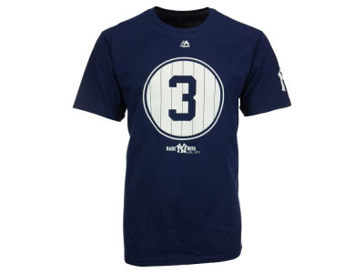 New York Yankees Babe Ruth Majestic MLB Men's Cooperstown Pinstripe Number T-Shirt