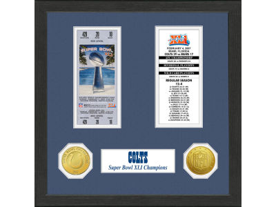 Indianapolis Colts Super Bowl Game Ticket And Coin