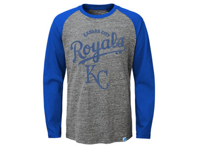 Kansas City Royals MLB Youth Fast Win Raglan Long Sleeve T-Shirt