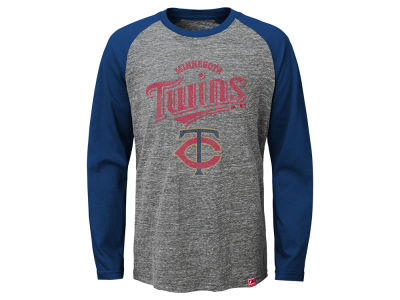 Minnesota Twins MLB Youth Fast Win Raglan Long Sleeve T-Shirt