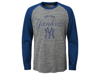 New York Yankees MLB Youth Fast Win Raglan Long Sleeve T-Shirt
