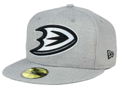 Anaheim Ducks New Era NHL Heather Gray Black White 59FIFTY Cap