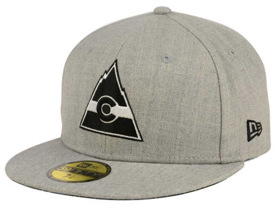 Colorado Rockies New Era NHL Heather Gray Black White 59FIFTY Cap