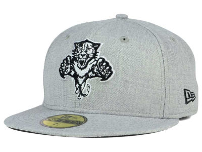 Florida Panthers New Era NHL Heather Gray Black White 59FIFTY Cap