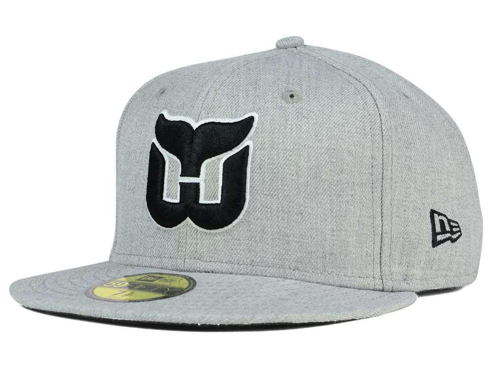 2d8c9dc4e3e Hartford Whalers New Era NHL Heather Gray Black White 59FIFTY Cap ...