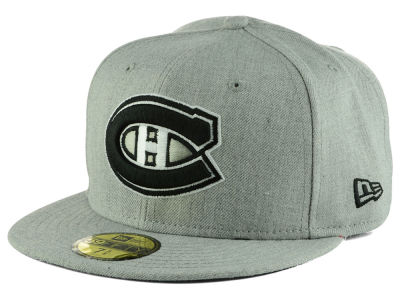 Montreal Canadiens New Era NHL Heather Gray Black White 59FIFTY Cap