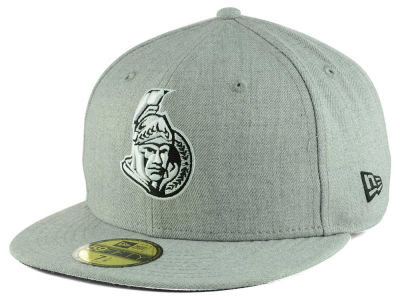 Chapeau noir gris du blanc 59FIFTY de NHL Heather