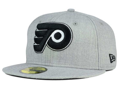 Philadelphia Flyers New Era NHL Heather Gray Black White 59FIFTY Cap